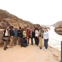 team-at-hukou-waterfalls