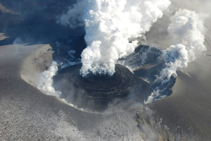 Locals warned to stay away as Japanese volcano erupts