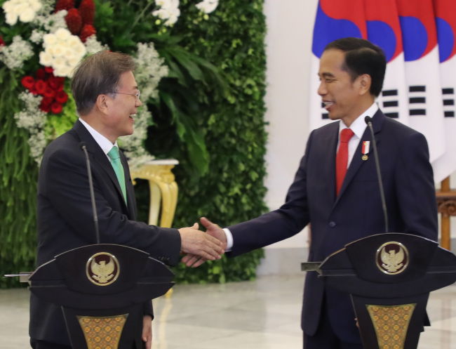 South Korea, Indonesia vow to boost economic, security ties